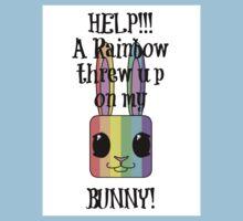 HELP!!! A Rainbow threw up on my BUNNY! Kids Clothes