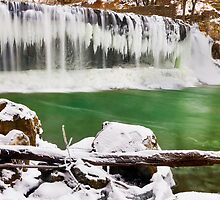 Winter at Cataract Falls, Indiana by Kenneth Keifer