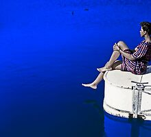 Sitting on The Dock of a Lake by Kellice
