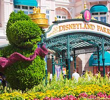 Disneyland Paris 20th Anniversary Entrance Decor by ThatDisneyLover