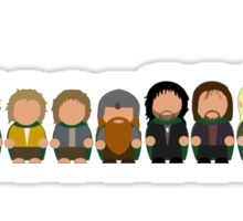 Lord of the rings - Character Doodles Sticker