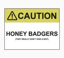 CAUTION: HONEY BADGERS (THEY REALLY DON'T GIVE A SHIT) by Bundjum