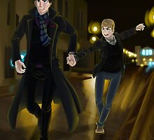 Sherlock and John by KumoriDragon