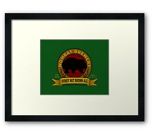 Wombat Brewery: Honey Nut Brown Ale Framed Print