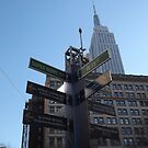 Super Bowl Boulevard, Empire State Building, Herald Square, Super Bowl Week, New York City  by lenspiro
