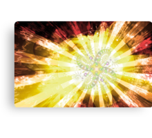 Cosmic Solar Flower Fern Flare 2 Canvas Print