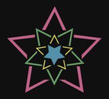 Exploding Star, over Heart by ArtOnMySleeve
