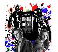11th doctor &Amy Pond by kayzaa