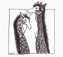 Listening to Music - Giraffes  by trueartgirl