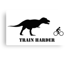 T-Rex Bike Training Canvas Print