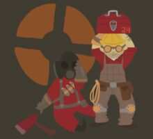 Engie and Pyro! by radiatedrabbit