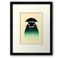 Waiting for you in the rain Framed Print