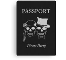 pirate party passport Canvas Print