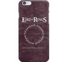 The Lord of the Rings : The Ring Sets Out iPhone Case/Skin