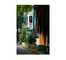 San Juan, Puerto Rico - Gorgeous Caribbean Colors and Flora Art Print