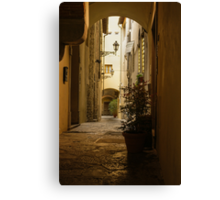Wandering Around the Lanes and Alleys of Florence, Italy Canvas Print