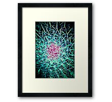 EXPLOSION OF LINES!!! Flowers Framed Print