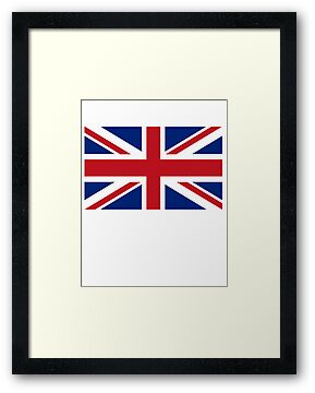 Union Jack, British FLAG, UK, United Kingdom, Pure & simple by TOM HILL - Designer