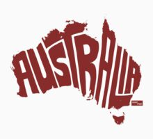 Australia Type Map (Red) by seanings