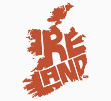Ireland Type Map (Orange) by seanings