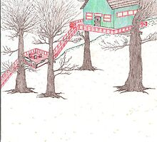 Snowy Treehouse1 by SteveHanna