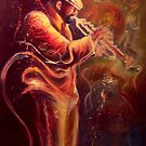 Street lit Fire by Lee Grissett