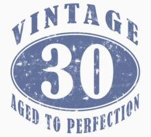 Funny Vintage 30th Birthday T-Shirt by thepixelgarden