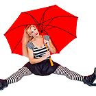 Ooh La La - Lady with Umbrella by Trudy Wilkerson