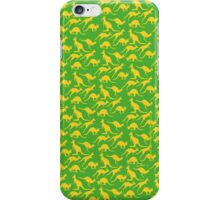 Australian colours Kangaroos - gold and green iPhone Case/Skin