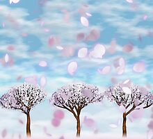 Sakurama - Cherry Trees by BonniePhantasm