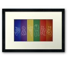 How I Met Your Colors Framed Print
