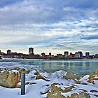 Lake Michigan And Skyline by EBArt