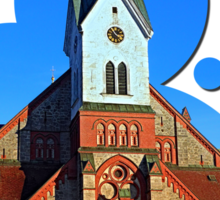 The village church of Aigen | architectural photography Sticker