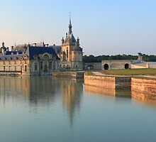 Chantilly, the castle at the golden hour, France. by remos