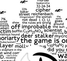 Mind Palace - (black text) Sticker