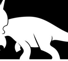 Ceratopsian Fancier Tee (Black on Light) Sticker