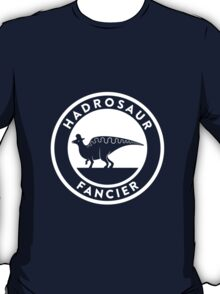 Hadrosaur Fancier (White on Dark) T-Shirt