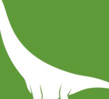 Sauropod Fancier (Green on White) Sticker