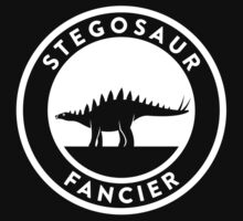Stegosaur Fancier (White on Dark) by David Orr