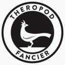 Theropod Fancier (Black on Light) by David Orr