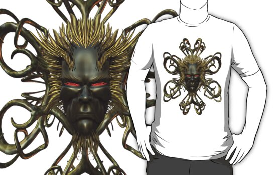 The Mask Of the Demon King .. tee shirt by LoneAngel