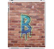 Graffiti Printed Letter B on wall iPad Case/Skin