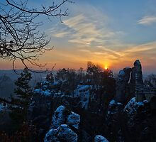 """Good Morning Rock Castle Rathen"" by Andreas Koerner"