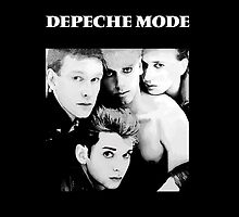 Depeche Mode : Single 81-85 Black - Paint B&W - With name by Luc Lambert