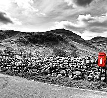 The Little Red Post Box by FyldePhotos