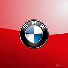 BMW 3D Badge-Logo on Red by Captain7