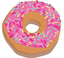 Pink delicious donut Photographic Print