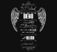 Don't blink. - White by MareveDesign