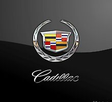 Cadillac 3D Badge-Logo on Black by Captain7