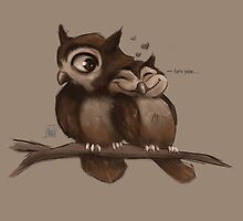 Owl Love by nicolealesart